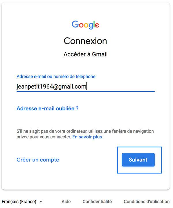 Accéder à Gmail