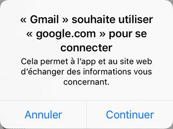 Connexion Gmail sur iPhone