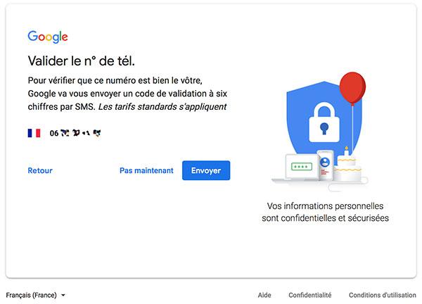 Créer adresse Gmail