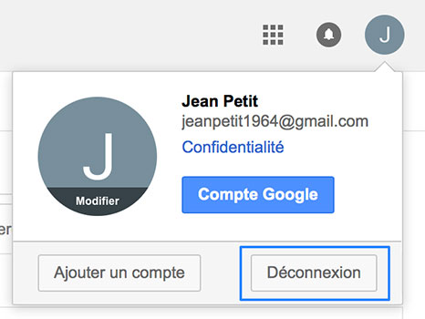 Déconnexion Gmail