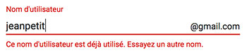 Nom utilisateur gmail