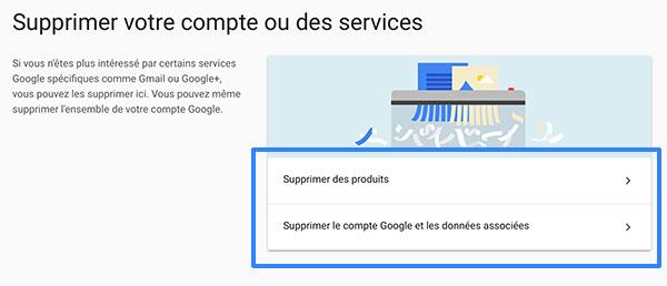 Supprimer un compte Gmail ou Google