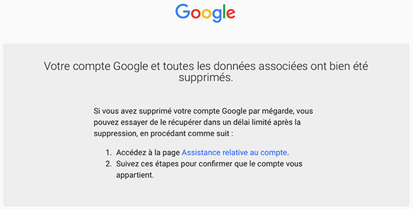 Supprimer Gmail