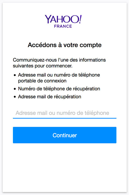 Acceder à Yahoo Mail