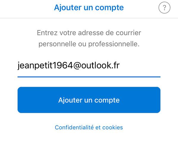 Connexion Hotmail mobile