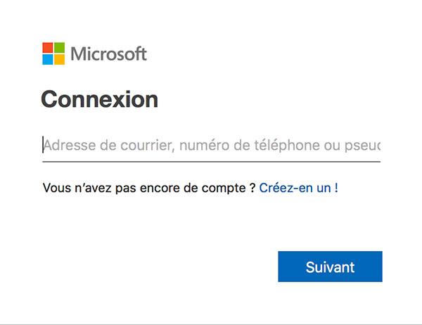 Connexion Hotmail sur ordinateur