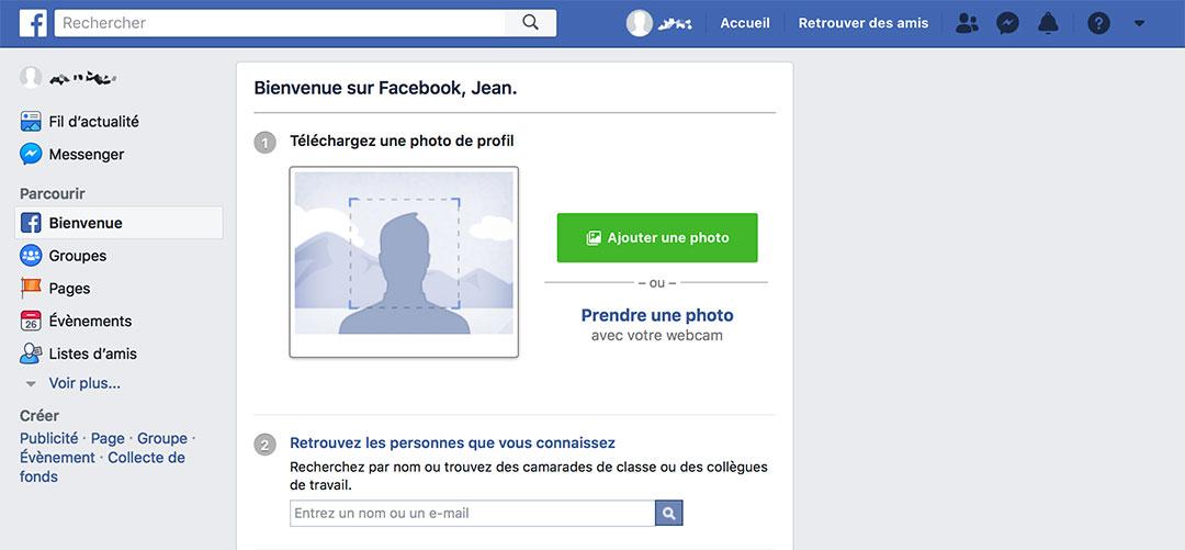 Déconnexion Facebook