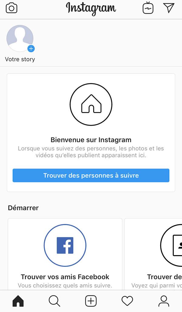 Instagram page principale