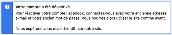 Réactiver un compte Facebook
