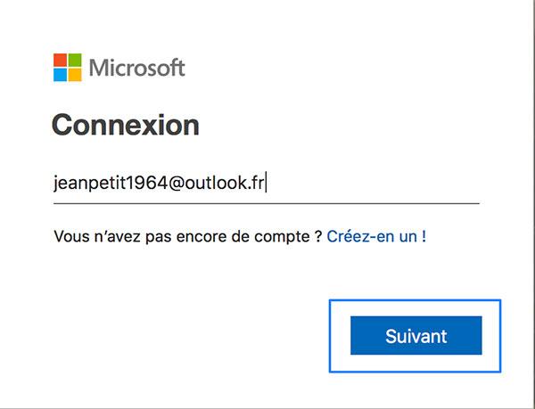 Se connecter à Hotmail sur ordinateur