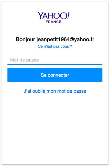 Se connecter à Yahoo Mail