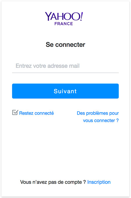 Se connecter Yahoo France