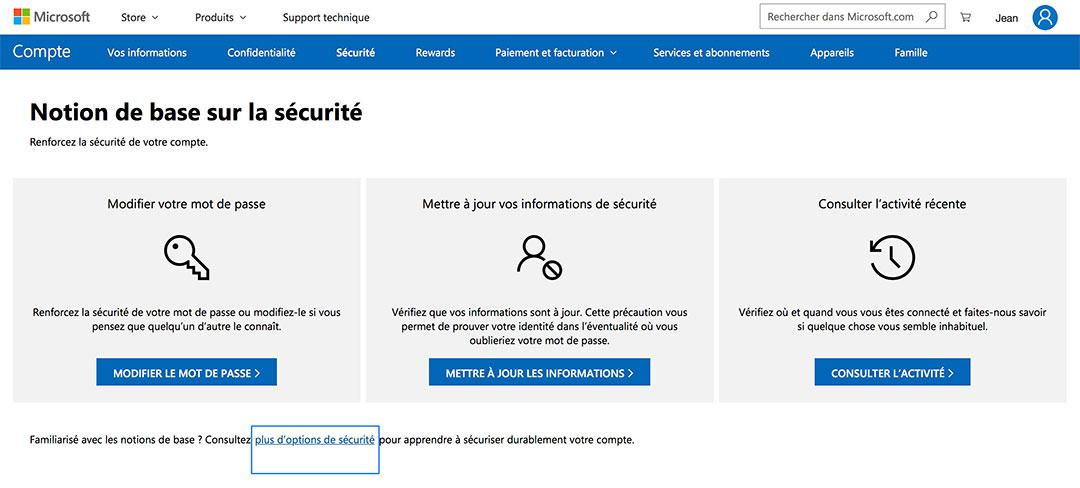 Supprimer compte Microsoft
