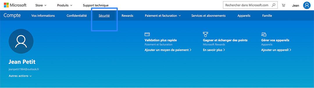 Supprimer compte Outlook