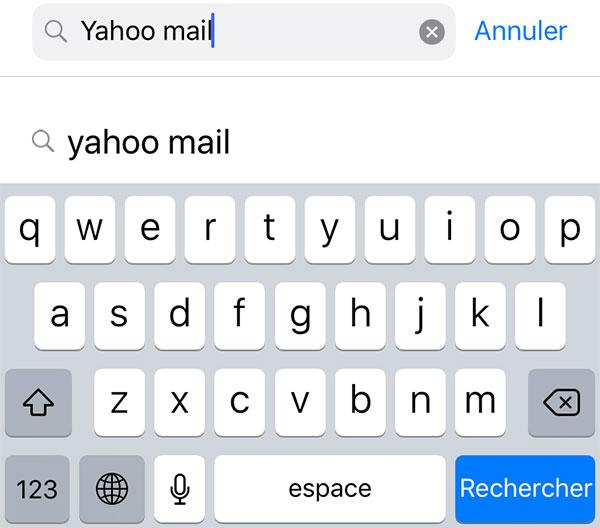 Yahoo Mail rechercher