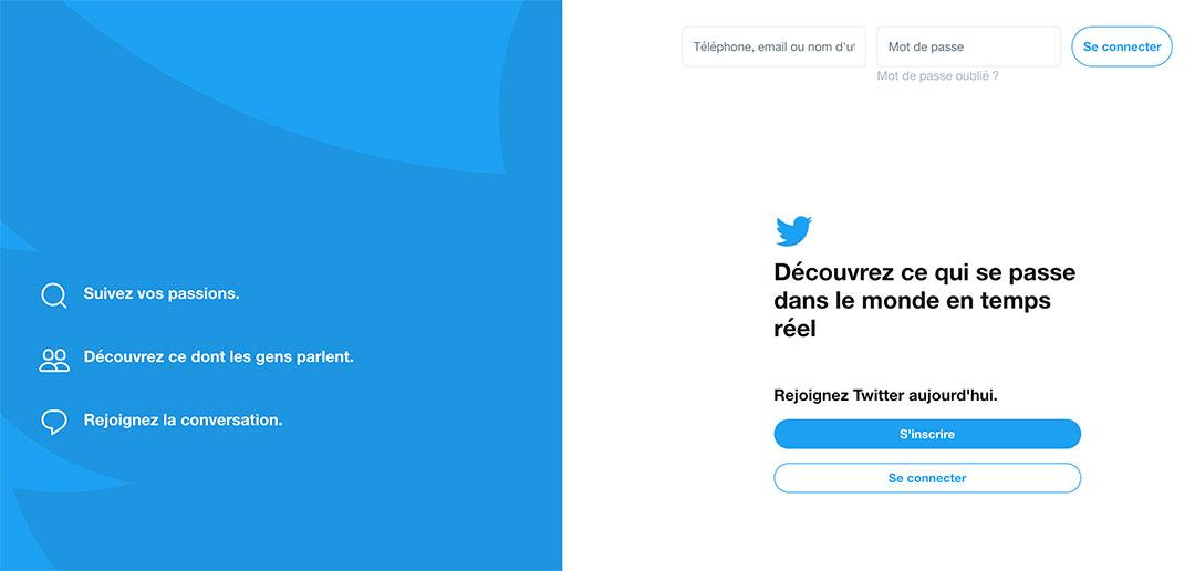 S'inscrire sur Twitter