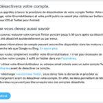 Supprimer compte Twitter