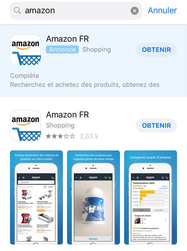 Télécharger Amazon iPhone