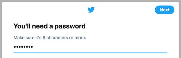 Twitter mot de passe