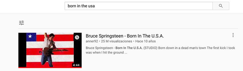 Chercher chanson sur Youtube